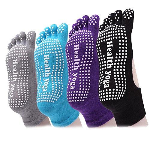 yoga-full-toe-socks-anti-slip-non-skid-grips-socks-with-barry-pilates-fitness-dance-for-women-4-pair