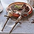 Loberon Saathilfe Herakles, Gartenzubehör, Gartenhilfe, Gusseisen, H/B/T ca. 31/9,5/2 cm, Braun von Loberon bei Du und dein Garten