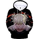 HXPainting Sudadera con Capucha Impreso 3D Unisex Mangas Largas Pullover Anime My Hero Academia Himiko Toga Tijeras Mano Casu