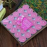 seguryy juego de 25velas Bulk flotante aroma sin humo romántica velas rosa