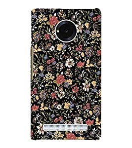 Flowers Artist Wall 3D Hard Polycarbonate Designer Back Case Cover for YU Yureka AO5510