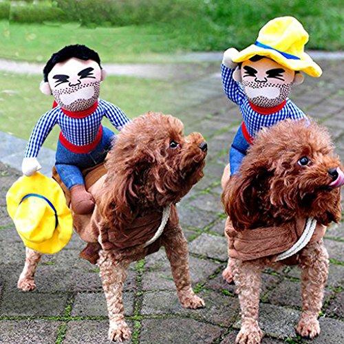 ng Horse Cowboy Pet Dog Kostüme, Puppy Katze Halloween Party Kostüm Kleidung (Katze Halloween-outfits Uk)