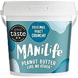 ManiLife Pindakaas - Geheel Natuurlijk, Enkele Herkomst, Geen Toegevoegde Suiker, Geen Palmolie - Original Roast Crunchy - (1