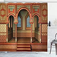 Arabesque Shower Curtain by Middle Eastern Oriental Style Interior Palace Architecture Vintage Art Design Fabr