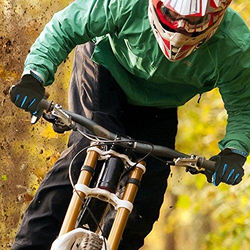 INTEY FahrradhandschuheTouchscreen kompatibel Vollfinger und Halbfinger für Radsport mit Lycra, 2 Paar (M) - 6