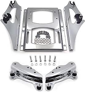 Hongk 4 Punkt Docking Hardware Kit Aus Chrom Und Abnehmbarer 2 Up Tour Pak Gepäckträger Kompatibel Mit 2009 2013 Harley Davidson Touring B01gfd99p2 Auto