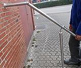 Edelstahl Handlauf 1500mm Treppengeländer Geländer Treppe Edelstahlhandlauf Wandhandlauf V2A Montagematerial von Bayram