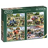 Falcon de luxe Seasons on The Farm Jigsaw Puzzles in One Box (4 x 1000-Piece)