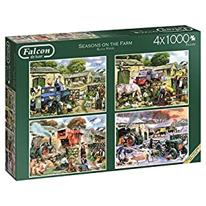 Jumbo-Seasons on The Farm 4 Puzzles de 1000 Piezas Cada uno (611181.0)