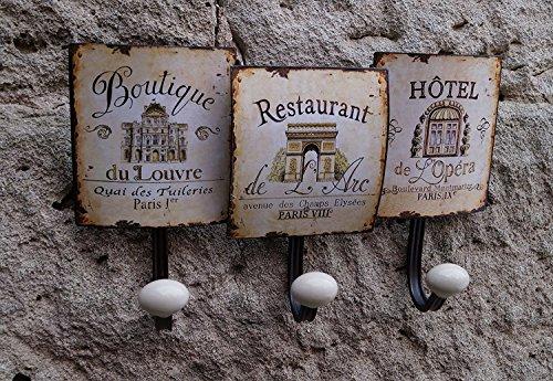 Garderobe Retro Wand Hakenleiste Kleiderhaken PARIS - Hotel