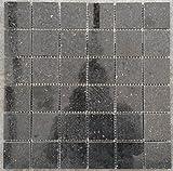 Granit Mosaik Matte Star Galaxy Schwarz 30x30 cm Poliert Fliesen 4,8 cm M041