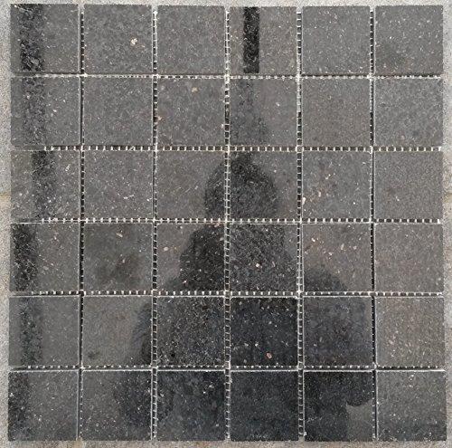 Granit Mosaik Matte Star Galaxy Schwarz 30x30 cm Poliert Fliesen 4,8 cm M041 -
