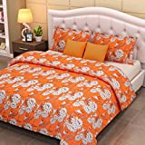 Looms Of India Floral Print Bed Sheet -D...