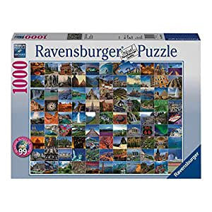 Ravensburger 99 Beautiful Places On Earth 1000pc Jigsaw Puzzle Ravensburger