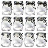 12 x Mini, in vetro per conserve con coperchio a Clip Kilner-Barattoli porta spezie e barattoli per marmellata, 5 x 8 cm