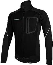 iCreat Herren Jacke Air Jacket Winddichte Wasserdichte Lauf- Fahrradjacke MTB Mountainbike Jacket Visible reflektierend, Fleece Warm Jacket für Herbst, Gr.M bis XXXL