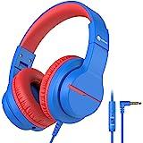 iClever HS19 Casque Audio Enfants, Ecouteurs Stéréo HD avec Microphone pour Enfants, Limiteur de Volume 85/94dB, Fonction de