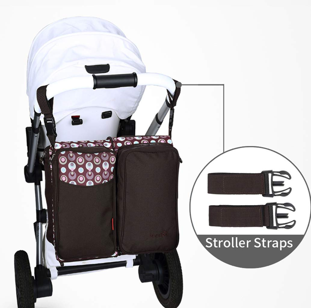 Baby Changing Bags 3-in-1 Universal Foldable Baby Travel Bed Portable Bassinet Crib Diaper Bag 0-12 Months, Brown WYTbaby ✿ BABY CHANGING BAG: This folding nappy bag not only can be a bag for putting baby diapers and baby daily stuffs but also can be a travel cot. It's pretty convenient and portable. Foldable is its special features. Crib is for your child to lay down and get some proper sleep during nap time. To have a padded space to play while staying safe and germ-free. It's really recommended for travel. ✿ STROLLER STORAGE BAG: Our multi-purpose diaper bag will neatly stash away all of your babies important stuffs with zippers for food, bottles, wipes and more. ✿ PRACTICAL HANDBAG: This versatile carry bag with adjustable and detachable shoulder straps and stroller straps. You can buckle it up to pram and pushchair, on the back of a carseat or on a shopping trolley. 8