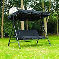 dDanke UV Resistant Rainproof Garden Swing Chair Replacement Canopy Cover 195 * 125cm for Patio Outdoor 3 Seater Swing Chair
