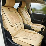Urlifehall BEIGE Auto Sitzbezug Kissen Leder, Auto Sitzbezug Stuhl Sitzkissen für Auto