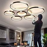 LED Plafonnier Dimmable Plafond De Lumière Avec Télécommande 3000K-6500K Lampe De Table Moderne Métallique Lumière Acrylique