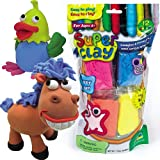 Supersoft Lightweight Clay Value Pack 12 Assorted Colours each 15g Air Dries for all Children's Craft Activities(Each)