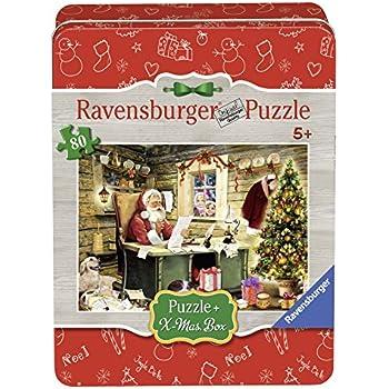 Ravensburger 07549 - Lettera a Babbo Natale, Christmas Puzzle 80 Pezzi, Edizione Speciale, Scatola in Metallo