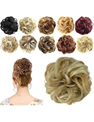 FESHFEN Scrunchy Scrunchie Bun Updo Hair Bun Hairpiece Hair Ribbon Ponytail Hair Extensions Wavy Curly Messy Hair Bun Donut Hair Chignons Hair Piece Wig Scrunchie Hairpiece by FESHFEN