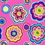 Funky Floral Stoffe–0,5Meterware–von Stoff