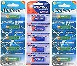 PKCELL 15 x 23A 12V (10 Batterien Eunicell u. 5 Batterien Quecksilberfreie Alkaline Batterien MN21, 23A, V23GA, L1028, A23 Eunicell FBA