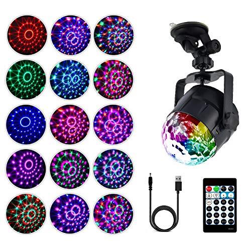 Disco-Ball-Lichter, 15 Farb-Modi, magische Kugel-Lampe, rotierend, für Party, Party, KTV-Bar, Weihnachten Kreis ()