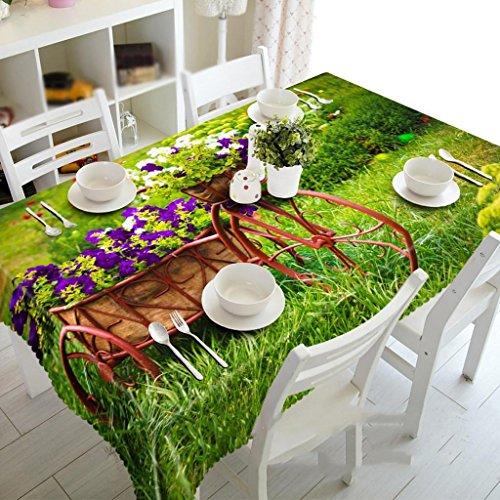 HZ Garten-Trolley Staubdichtes 3d Tischtuch Umweltschutz Geschmacklos , rectangular width 50cmx long 130cm