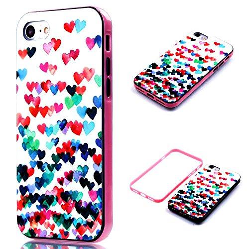 """iPhone 7 4.7"""" Coque, MOONCASE Coloré Motif TPU Silicone Gel Étui Housse Protection Shell Cover Case Pour iPhone 7 4.7"""" YT09 YT06"""