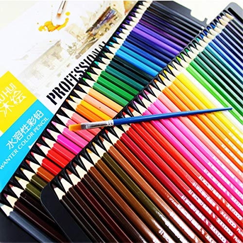 72 farbige Bleistifte Kunst Zeichnung weichen Kern Bleistifte Blei Wasser lösliche Farbe Stift Set