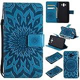 Funda Huawei Mate 10, Bear Village® Cuero Fundas con [Garantía de por Vida], Protección De Cuerpo Completo Carcasa Case Cover para Huawei Mate 10 (#6 Azul)