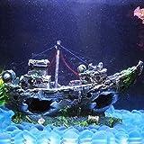 Topker Wrack Boot Fischnetz Fisch Tank Aquarium Landschaftsbau Unterwasser Ornament Dekoration