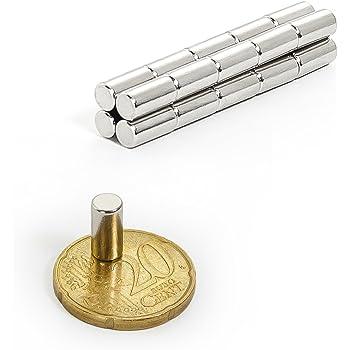 extra stark N45 HAB/&GUT -MC000-20 Mini Magnete NEODYM f/ür Magnettafel K/ühlschrank Whiteboard 6x3mm Das Original