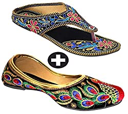 Rajasthani Chappal With Punjabi Jutti Ethnic Wear Combo Pack