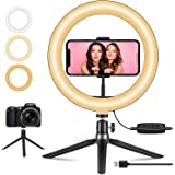 """10"""" Selfie Ring Light with Tripod Stand & Phone Holder, Makeup Light for YouTube Video, Live Streaming, Tiktok, Zoom Meeting,"""