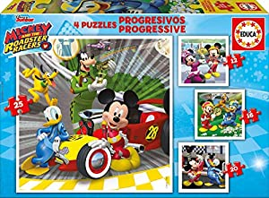 Educa Borrás- Mickey and The Roadster Racers Puzzle, Multicolor, única (17629)