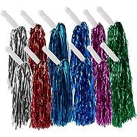 Juvale 6 Pares (12 Total) Metallic Cheerleader Pom poms con Asas
