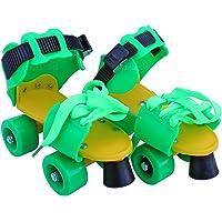 Toyshine Dura Baby Skates for Kids Boys Girls, Adjustable Skating | Age 7 to 11 Years, Green