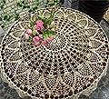 HANSHI handgefertigte ausgehöhlte Tischtücher Häckeln Rundes Tischtuch aus Lace weiße Tischdecke für Möbel Dekoration für Hochzeit von HANSHI auf Gartenmöbel von Du und Dein Garten
