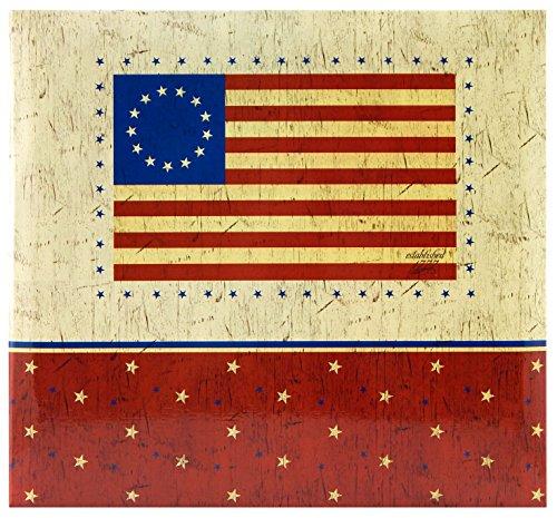 MBI 12x 12Zoll American Flagge Post Bound Album, Mehrfarbig