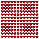 kleberio® 330 Klebeherzen Farbe: rot Größe: 10mm Aufkleber Herz PVC-Spezialfolie von ORAFOL selbstklebend glänzend Für den Innen- und Außenbereich geeignet