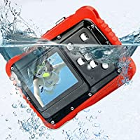 PELLOR Digital Camera for Kids Waterproof Sports Action Camera with 5MP 4X Digital Zoom 2.0inch LCD Display for Swimming Diving for Kids