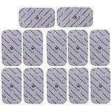 Healthcare World 12 Stück Druckknopf Größen 9cm x 5cm Elektroden Pads passend zu TENS EMS Geräten Sanitas und Beurer