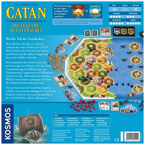 KOSMOS-Catan-692902-Catan-Szenarien-fr-Seefahrer-Die-Legende-Der-Seeruber-Strategiespiel