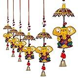 #9: Jaipuri haat Decorative Ganesh door Hanging- Set of 4