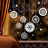 Wandtattoo Loft Fensteraufkleber Weihnachtskugeln Fensterbild / Winter / 49 Farben zur Auswahl / dunkelblau /